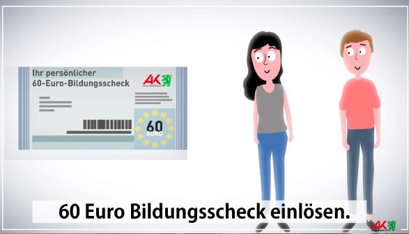 Zweimal im Jahr 60 Euro mit dem AK-Bildungsscheck einlösen. © -, AK Stmk