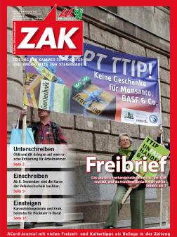 Mitgliedermagazin ZAK, Erscheinung im September 2014. © -, AK Stmk