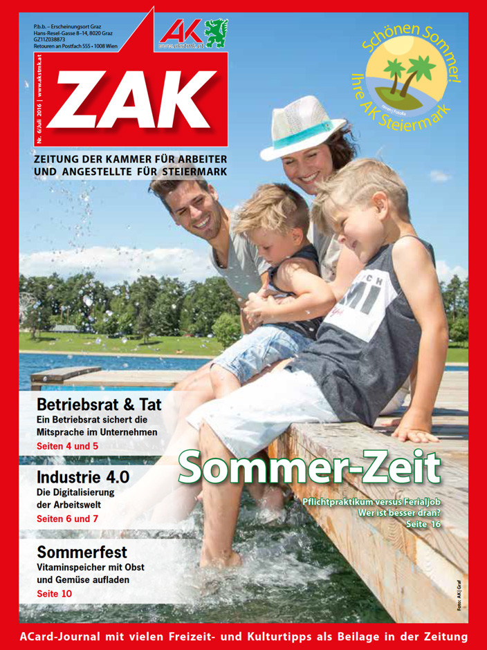 Die ZAK vom Juli 2016 © Graf, AK Stmk