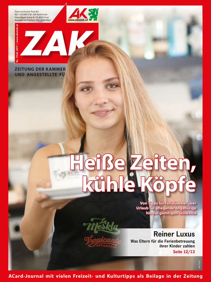 Titelbild der ZAK im Juli 2017 © Graf, AK Stmk