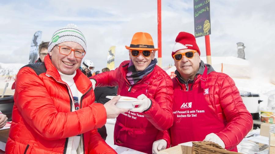 Paul Prattes brachte das Wetter vom AK-Skitag. © Temel, AK Stmk