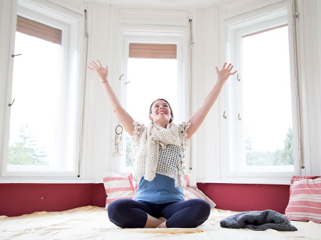 Yogalehrerin Susanna Kubarth teil mit uns ihr umfassendes Wissen. © Graf, AK Stmk