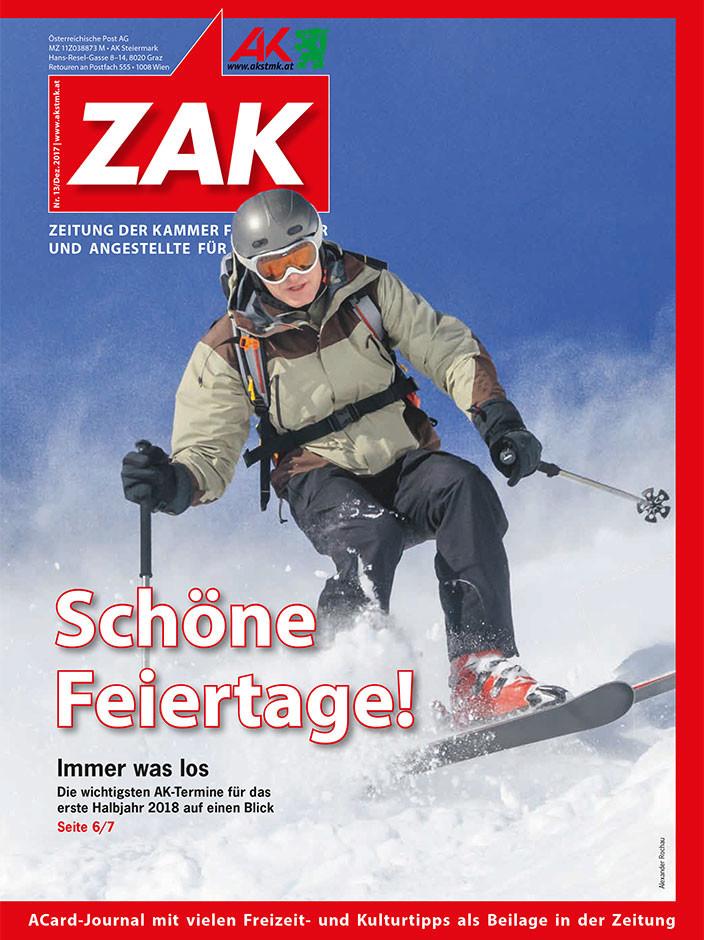 Deckblatt der neuen ZAK im Dezember 2017 © -, AK Stmk