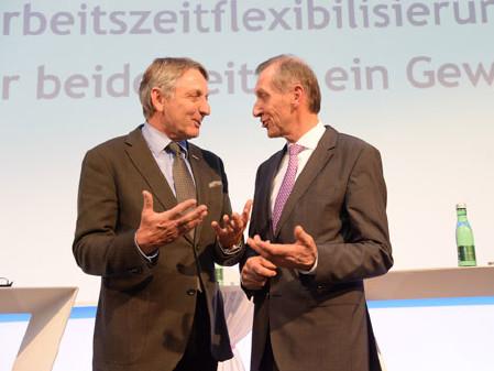 Herk und Pesserl: Flexible Arbeit muss Win-Win-Lösung sein. © Fischer, WKO