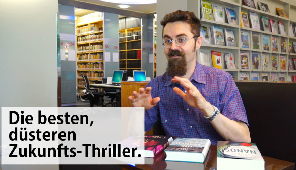 Alex aus der AK-Bibliothek stellt wieder drei Dystopien vor. © -, AK Stmk