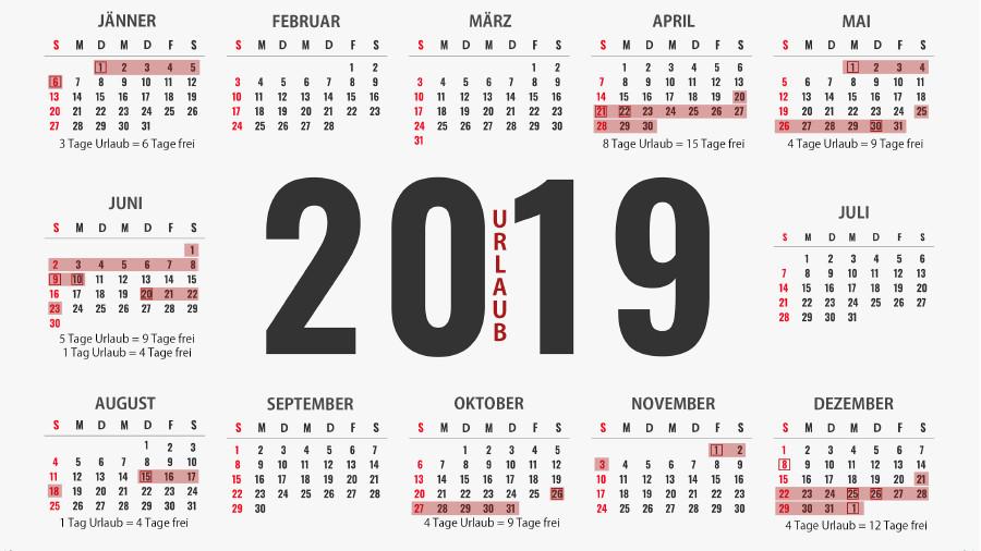 Urlaubskalender 2019 Arbeiterkammer Steiermark
