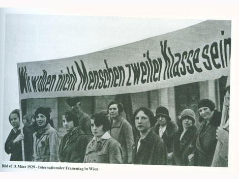 Der Internationale Frauentag 1929 in Wien © internationalerfrauentag.at, AK Stmk