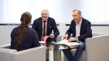 AK-Präsident Josef Pesserl und AK-Präsident Wolfgang Bartosch im Interview. © Temel, AK Stmk