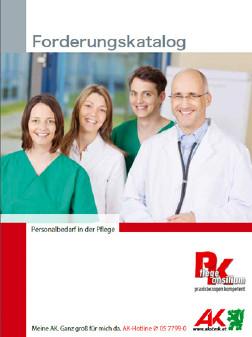 Deckblatt Forderungskatalog Personalbedarf in der Pflege © -, AK Stmk
