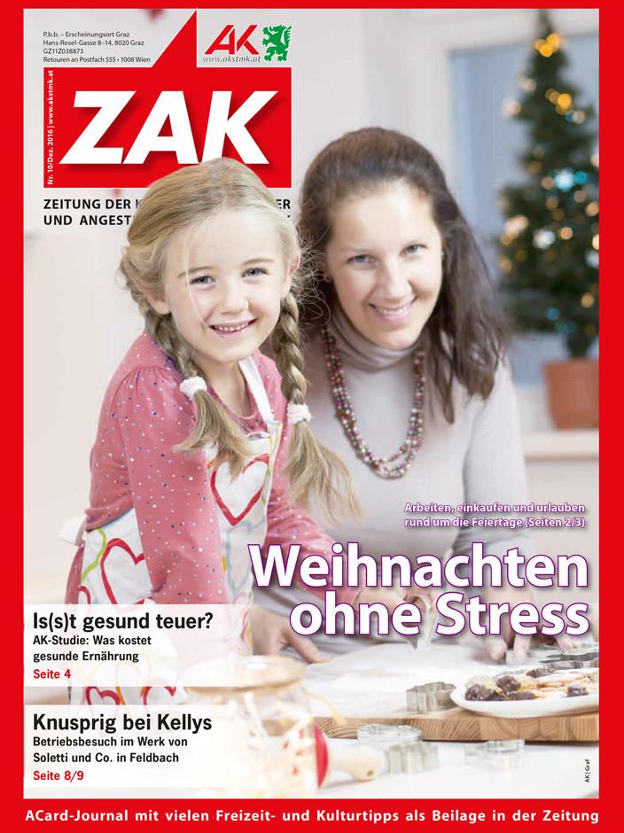 Deckblatt für die ZAK im Dezember 2016. © -, AK Stmk