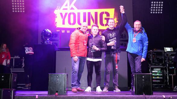 K-Präsidenten Josef Pesserl (rechts, Steiermark) und Markus Wieser (Niederösterreich) mit den Siegern vom Contest DJ FMP und DJ Steve Ray. © AK Niederösterreich, AK Stmk
